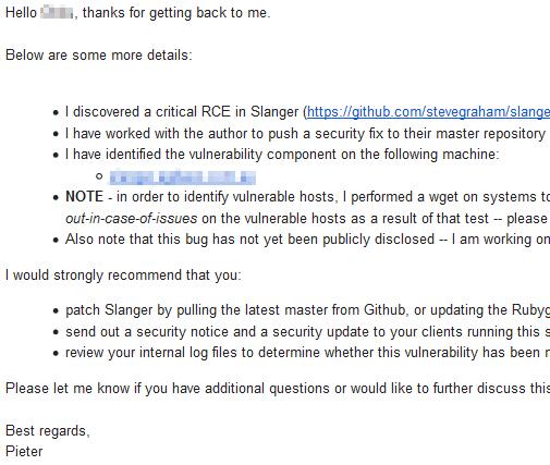 RCE in Slanger, a Ruby implementation of Pusher   Honoki